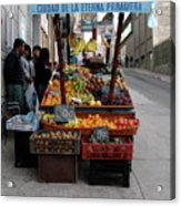Arica Chile Fruit Stand Acrylic Print