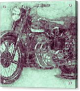 Ariel Square Four 3 - 1931 - Vintage Motorcycle Poster - Automotive Art Acrylic Print