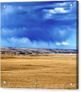 Arising Storm Over Calgary Acrylic Print