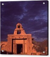Arizona Adobe Mission Church 1939-2016 Acrylic Print