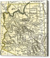 Arizona Territory Antique Map 1891 Acrylic Print