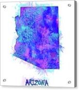 Arizona Map Watercolor 2 Acrylic Print