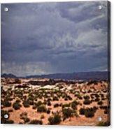 Arizona Rainy Desert Landscape Acrylic Print