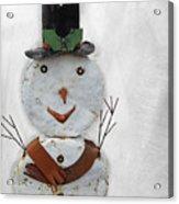 Arizona Snowman Acrylic Print
