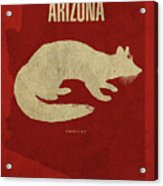 Arizona State Facts Minimalist Movie Poster Art Acrylic Print