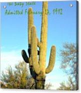 Arizona The Baby State Acrylic Print