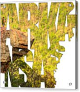 Arkansas Typography - Perspective - Whitaker Point Hawksbill Crag Acrylic Print