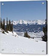 Arkansas Valley From Mount Elbert Colorado In Winter Acrylic Print