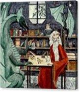 Arleas And The Wizard - Green Acrylic Print
