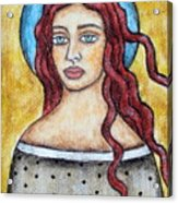Arlene Acrylic Print by Rain Ririn