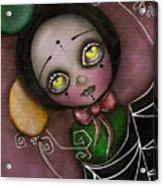 Arlequin Clown Girl Acrylic Print