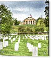 Arlington House Half Mast  Acrylic Print