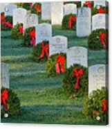 Arlington National Cemetery At Christmas Acrylic Print