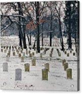 Arlington Winter Snow Acrylic Print