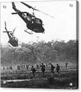 Army Airborne In Vietnam Acrylic Print