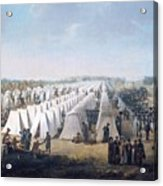 Army Camp In Rows  Acrylic Print