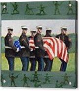Army Men Acrylic Print