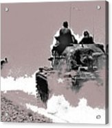 Army Reservists Summer Camp Tanks Death Valley California 1968-2016 Acrylic Print