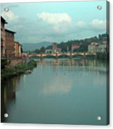 Arno River, Florence, Italy Acrylic Print by Mark Czerniec