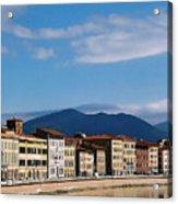 Arno River Pisa Italy Acrylic Print