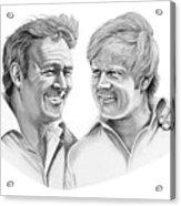 Arnold Palmer-jack Nicklaus Acrylic Print by Murphy Elliott