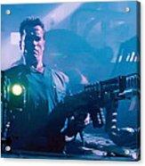 Arnold Schwarzenegger Firing Dual Em-1 Railguns Eraser 1996 Acrylic Print