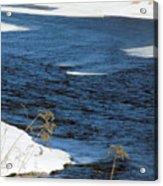 Aroostook River Below The Dam Acrylic Print