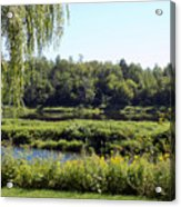 Aroostook River Landscape Acrylic Print