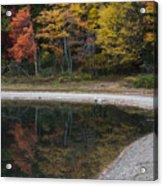 Around The Bend- Hiking Walden Pond In Autumn Acrylic Print