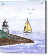 Around The Bend Sailboat Acrylic Print
