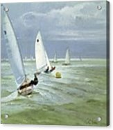 Around The Buoy Acrylic Print by Timothy Easton