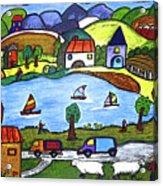 Around The Lake Acrylic Print