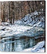 Around The Snow Bend Acrylic Print