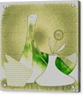 Arrangement In Green And Yellow Acrylic Print