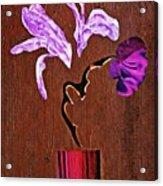 Arrangement In Purple Acrylic Print