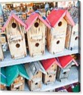 Array Of Handmade Birdhouses For Sale Acrylic Print