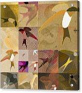 Arraygraphy - Birdies Sepia, Part 1 Acrylic Print