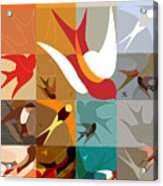 Arraygraphy - Birdies Triptych Part2 Acrylic Print