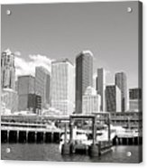 Arriving Downtown Seattle Acrylic Print