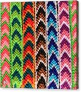 Arrow Pattern Woven Bracelets Acrylic Print