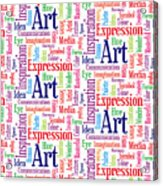 Art And Inspiration Pattern Acrylic Print
