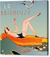 Art Deco Beach Bather Acrylic Print