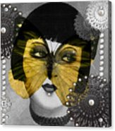 Art Deco Butterfly Woman Acrylic Print