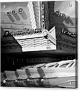 Art Deco Movie Theatre And Chevrolet Belair Acrylic Print