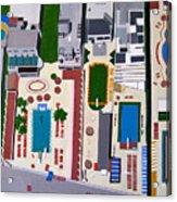 Art Deco Pools Acrylic Print