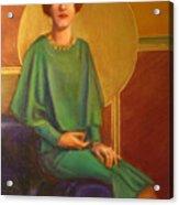 Art Deco Redhead Acrylic Print