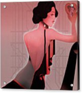 Art Deco Valentine Greeting Acrylic Print