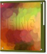 Art For Spring Acrylic Print