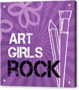 Art Girls Rock Acrylic Print by Linda Woods