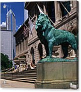 Art Institute Of Chicago Chicago Il Usa Acrylic Print